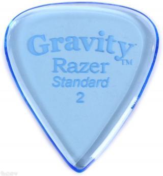 Gravity Picks GRAS2P Razer Standard 2.0mm Polished Blue