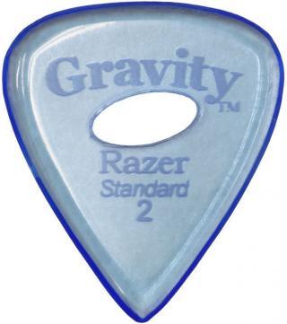 Gravity Picks GRAS2PE Razer Standard 2.0mm Polished w/ Elipse Blue