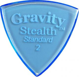 Gravity Picks GSSS2P Stealth Standard 2.0mm Polished Blue