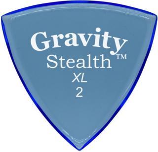 Gravity Picks GSSX2P Stealth XL 2.0mm Polished Blue