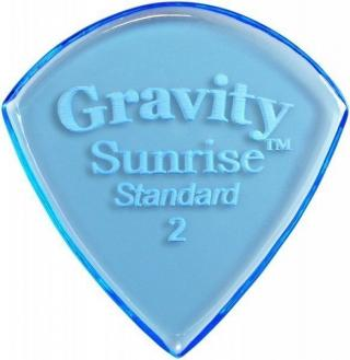 Gravity Picks GSUS2P Sunrise Standard 2.0mm Polished Blue