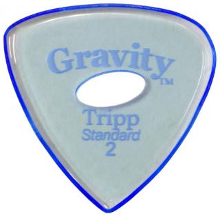 Gravity Picks GTRS2PE Tripp Standard 2.0mm Polished w/ Elipse Blue