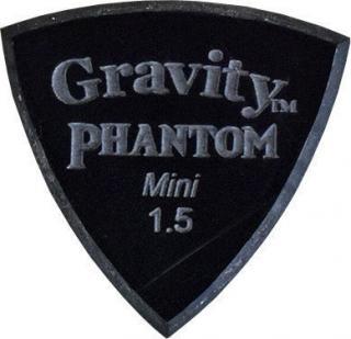 Gravity Picks Stealth Mini 1.5mm Master Finish Phantom Black