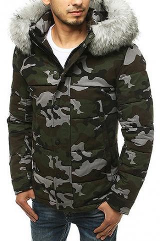 Gray mens camo winter jacket TX3478 pánské Neurčeno M