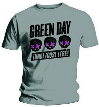 Green Day Unisex Tee Three Heads Better Than One XL Grey XL