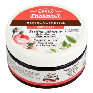 Green Pharmacy Body Care Muscat Rose & Green Tea cukrový peeling 300 ml dámské 300 ml