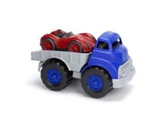 GREEN TOYS Nákladní auto se závodním autem modrá
