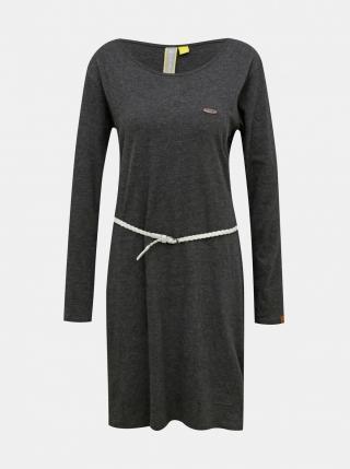 Grey dress with Alife and Kickin belt dámské šedá S