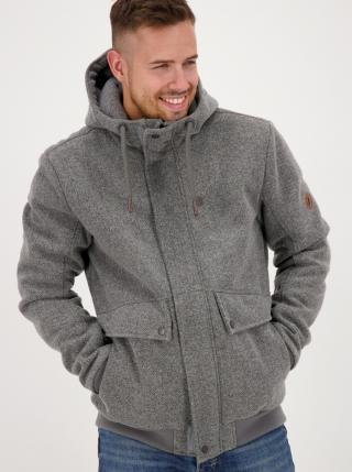 Grey Mens Winter Jacket Alife and Kickin pánské šedá S