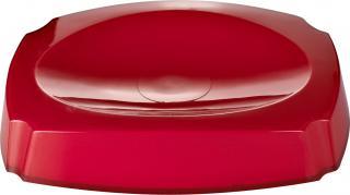 GRUND Miska na mýdlo NEON červená 14,4x10,4x3 cm