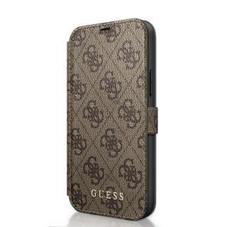 Guess 4G flipové pouzdro GUFLBKSP12S4GB Apple iPhone 12 mini brown