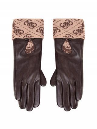 Guess Dámské rukavice Valy Gloves AW8545 POL02 Hnědá S