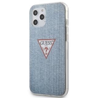 Guess Denim Triangle Zadní kryt GUHCP12LPCUJULLB Apple iPhone 12 Pro Max light blue