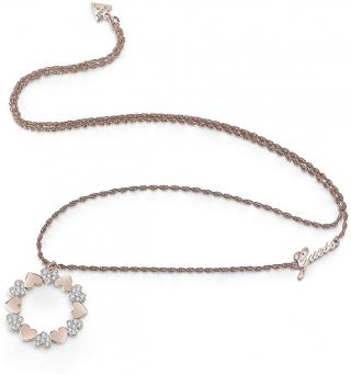 Guess Dlouhý náhrdelník se srdíčkovým přívěskem UBN85049