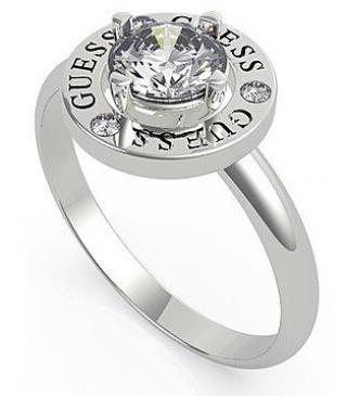 Guess Elegantní ocelový prsten s krystalem UBR20046 54 mm dámské