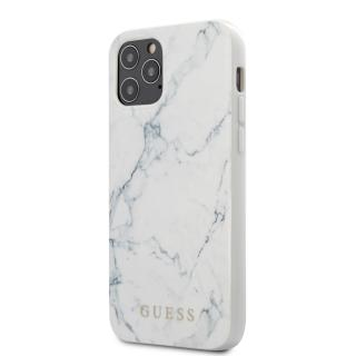 Guess Marble Zadní kryt GUHCP12MPCUMAWH Apple iPhone 12/12 Pro white