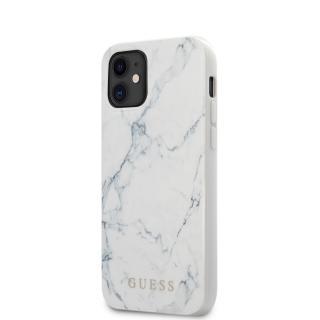 Guess Marble Zadní kryt GUHCP12SPCUMAWH Apple iPhone 12 mini white