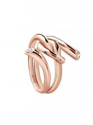Guess rose gold prsten Knot dámské bronzová S