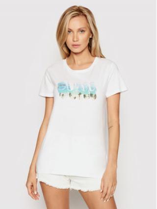 Guess T-Shirt Beach Logo W1YI77 R1310 Bílá Regular Fit dámské M