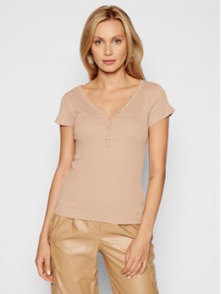 Guess T-Shirt Henley W0GI62 R9I50 Béžová Slim Fit dámské S