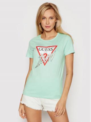 Guess T-Shirt Icon W1YI0Y I3Z00 Zelená Regular Fit dámské XS