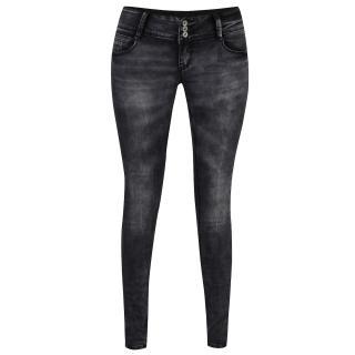 Haily´s Šedé džíny s vyšisovaným efektem a nízkým pasem Hailys Camila dámské šedá XS