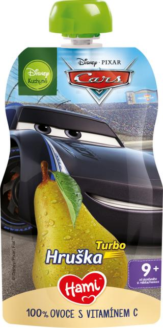 HAMI Disney Cars ovocná kapsička Turbo Hruška 110 g, 9