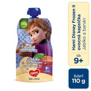 HAMI Disney Frozen Anna ovocná kapsička Jablko a Banán 110 g, 9