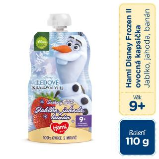 HAMI Disney Frozen Olaf ovocnozeleninová kapsička Jablko, Jahoda, Banán 110 g, 9