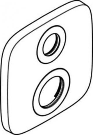 Hansgrohe náhradní krycí rozeta 15,5 x 15,5 cm chrom 9279000