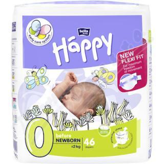 Happy Before New Born dětské pleny 46ks