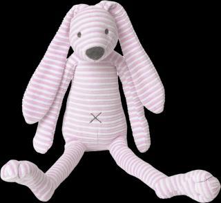 HAPPY HORSE Růžový pruhovaný králíček Reece, 40 cm růžová
