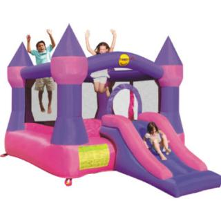 happyhop Bouncy Castle - hrad purple se skluzavkou dámské