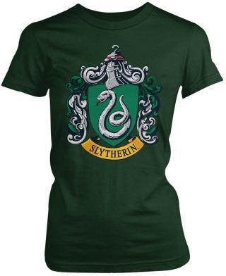 Harry Potter Slytherin Womens T-Shirt L dámské Green L