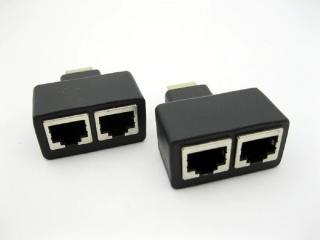 HDMI dual RJ45 port extender na 30 m 2 ks