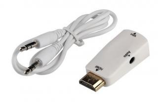 HDMI VGA adaptér samec a samice - 2 barvy Barva: bílá