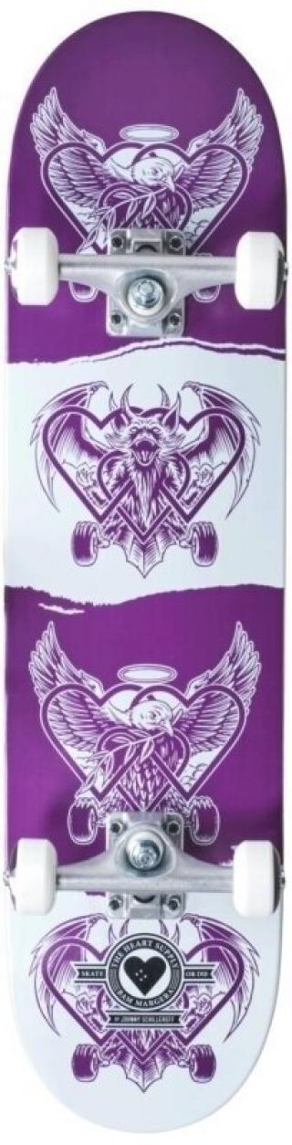 Heart Supply Bam Pro Skateboard Complete 7,75 Dark Light Violet