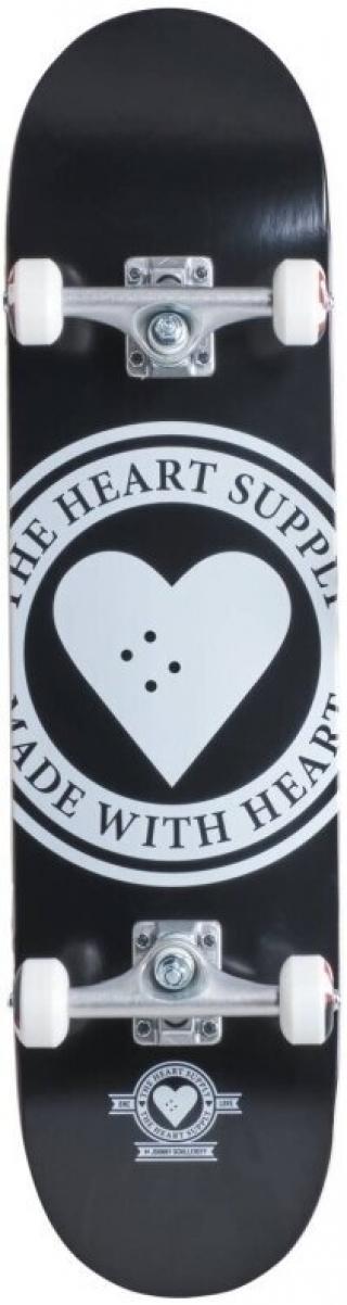 Heart Supply Logo Skateboard Complete 7,75 Badge/Black