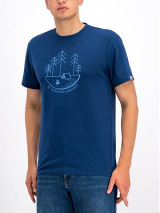 Helly Hansen T-Shirt Skog Graphic 62856 Tmavomodrá Regular Fit pánské S