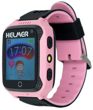 Helmer Chytré dotykové hodinky s GPS lokátorem a fotoaparátem - LK 707 růžové - SLEVA VI
