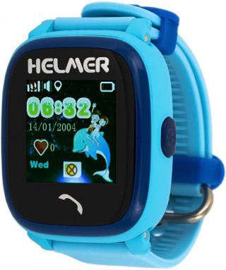 Helmer Chytré dotykové vodotěsné hodinky s GPS lokátorem LK 704 modré - SLEVA III