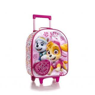 Heys Dětský textilní kabinový kufr Soft Paw Patrol Pink 2 21 l růžová