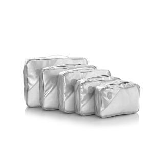 Heys Metallic Packing Cube 5pc Silver stříbrná