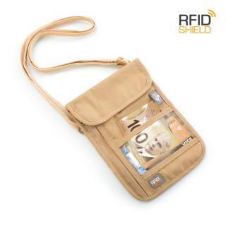 Heys Neck Wallet RFID béžová