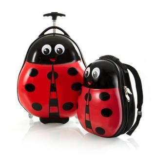 Heys Sada batohu a kabinového kufru Travel Tots Lady Bug červená