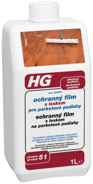 HG Ochranný film s leskem pro parketové podlahy 1l HGOFPP