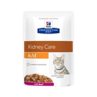 Hill´s prescription diet feline k/d beef kapsička 12x85g