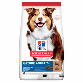 Hill´s science plan canine mature adult 7  medium lamb & rice 14kg