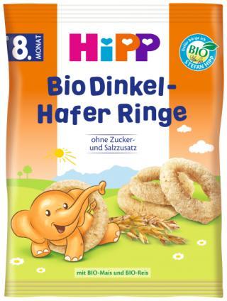 HIPP BIO Špaldovo-ovesná kolečka od 8. měsíce, 30 g