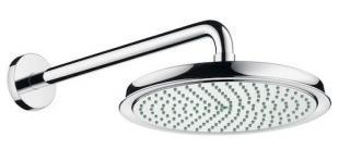 Hlavová sprcha Hansgrohe Raindance Classic na stěnu včetně sprchového ramena chrom 27424000 chrom chrom